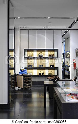 Interior of a modern boutique store - csp9393955