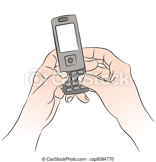 Cell Phone Texting - csp9394770