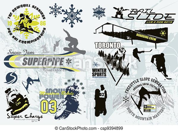 winter sport C - csp9394899