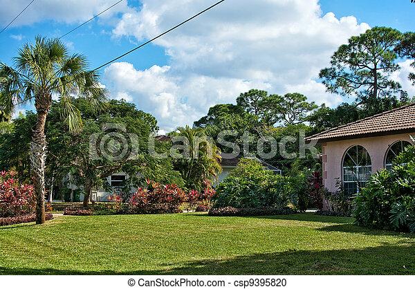 typical southern florida neighborhood - csp9395820