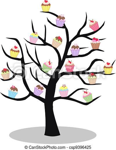 a cupcake tree - csp9396425