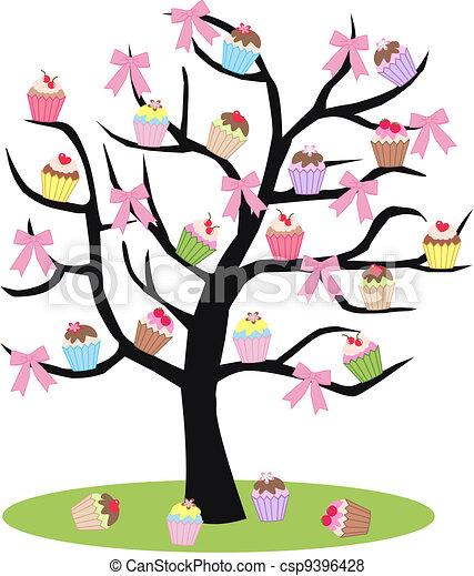 a cupcake tree - csp9396428