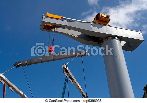 Boat lifter crane horizontal image - csp9396938