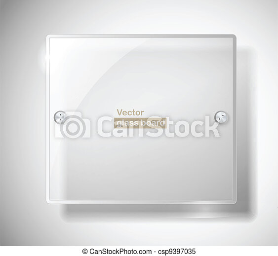 Square advertising glass board - csp9397035