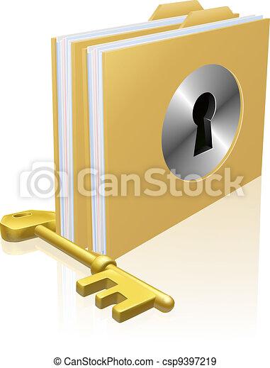 Secure file folder - csp9397219