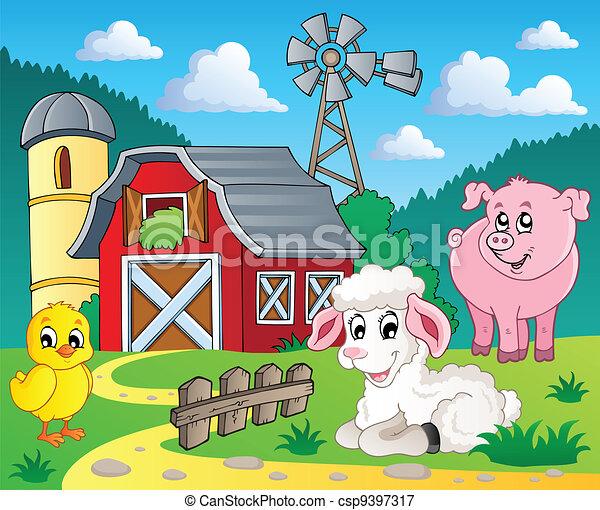 Farm theme image 5 - csp9397317