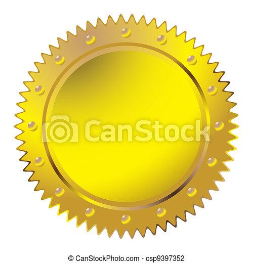 Wax golden seal - csp9397352