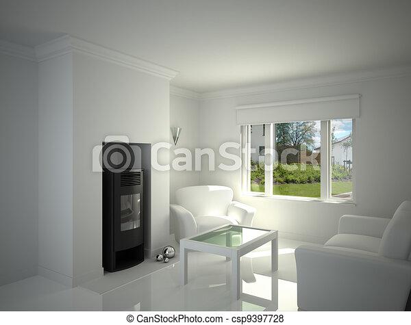 White livingroom. - csp9397728