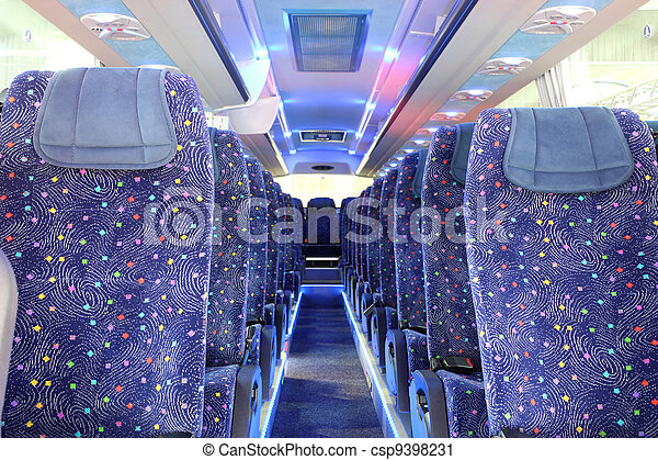 inside of new bus - csp9398231