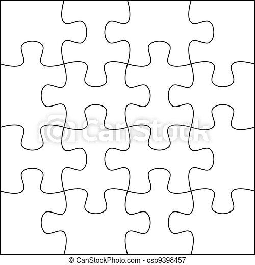 Stock de Ilustraciones - rompecabezas, Plano de fondo, plantilla, 4x4 ...