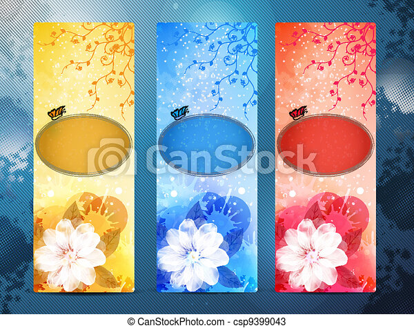 set of vertical business banner - csp9399043