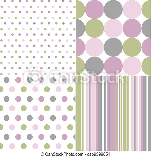 seamless patterns, polka dots - csp9399851