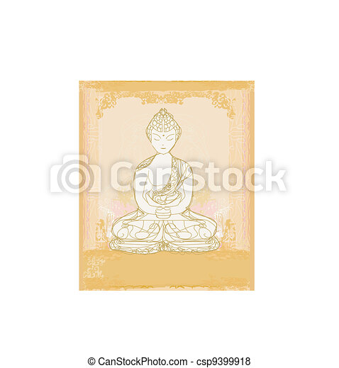 Artistic Buddhism Pattern - csp9399918