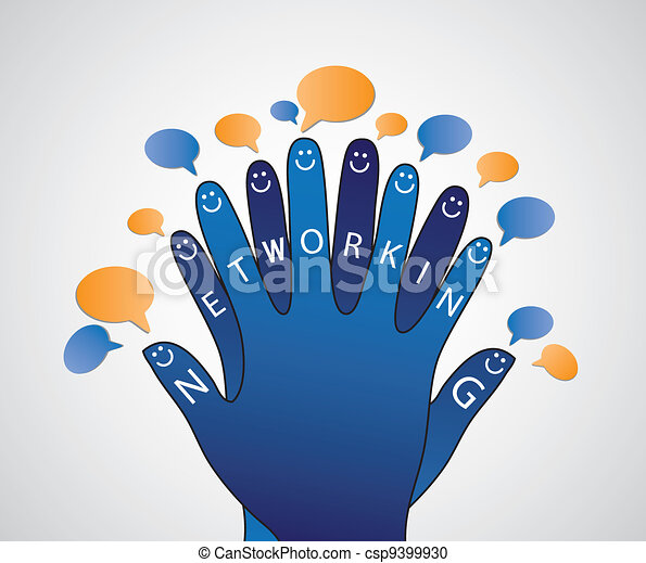 Social networking concept of people conversation - csp9399930