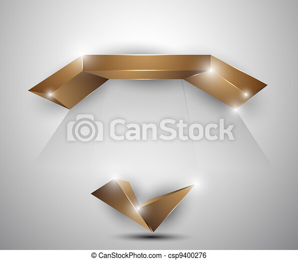 abstract background - 3d figures - csp9400276