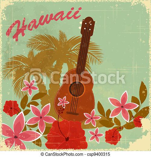 Vintage Hawaiian postcard - csp9400315