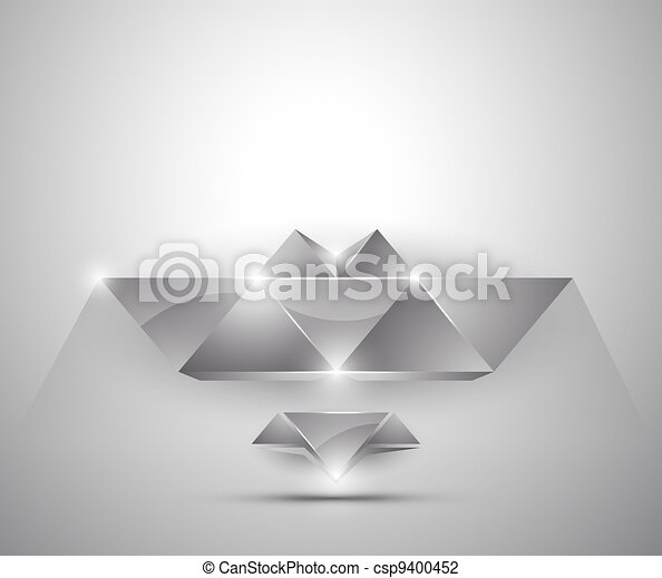 abstract background - 3d figures - csp9400452