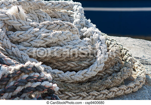 Strings for tying fishing boats - csp9400680