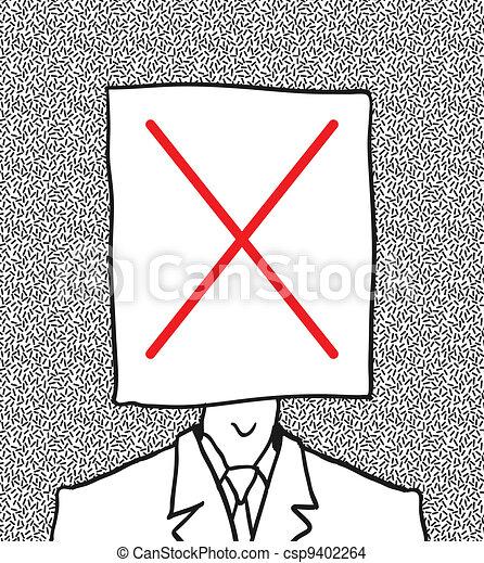 no user profile picture. hand drawn. - csp9402264