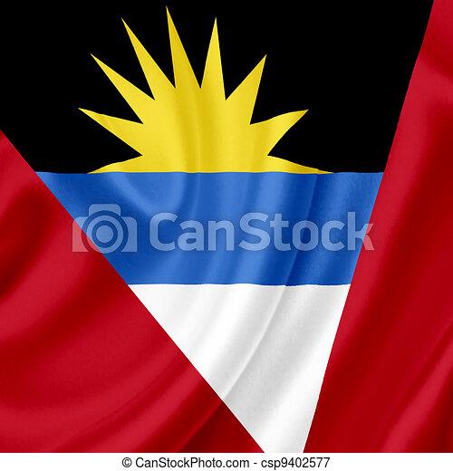Antigua and Barbuda waving flag - csp9402577