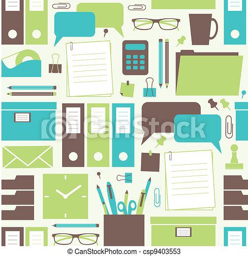 Office Objects Pattern - csp9403553