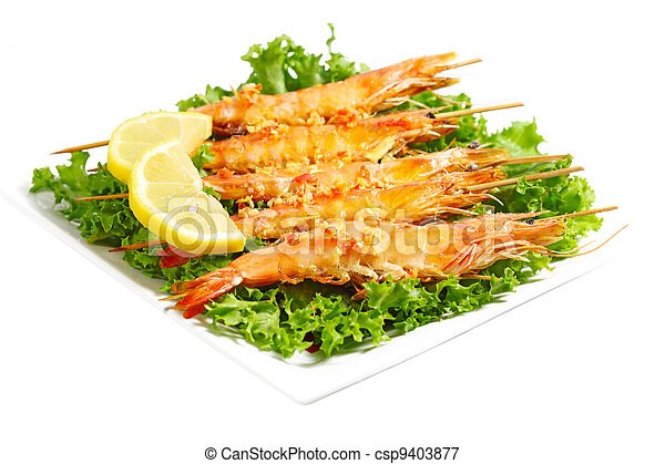 Grilled Shrimps - csp9403877