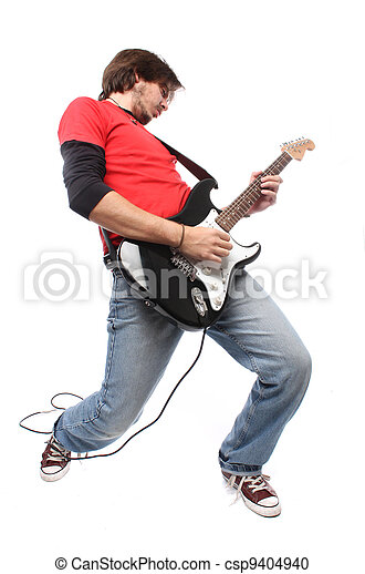 Stock Photography of Guitar player playing rock and roll ...