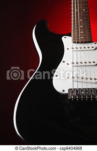 Electric guitar, beautiful string instrument
