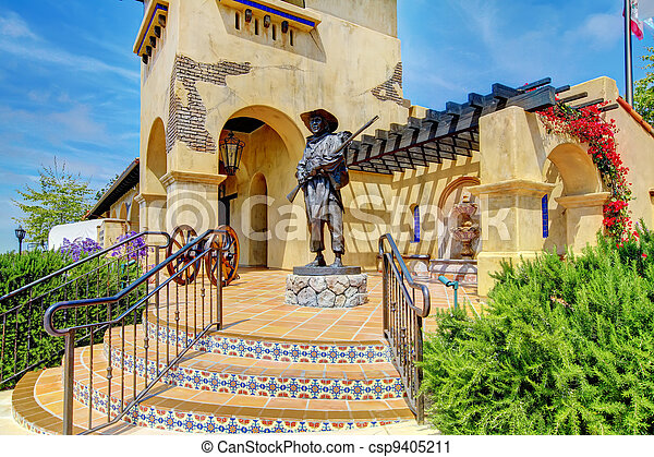 Spanish architecture of Mormons Historic Museum. - csp9405211
