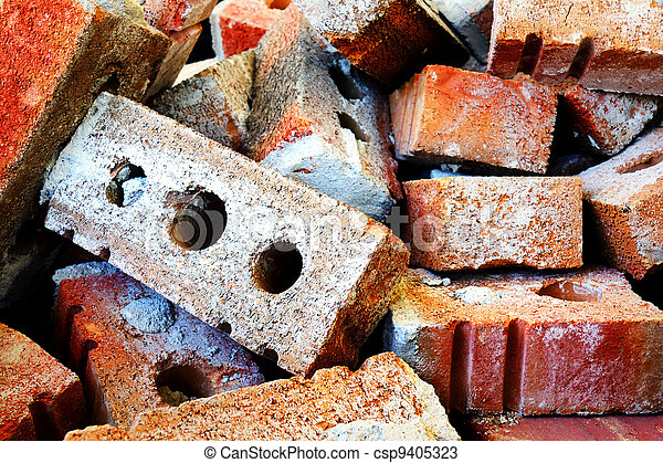 Pile of bricks - csp9405323