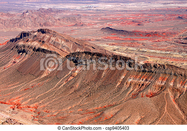 Rugged Landscape of Nevada Desert - csp9405403