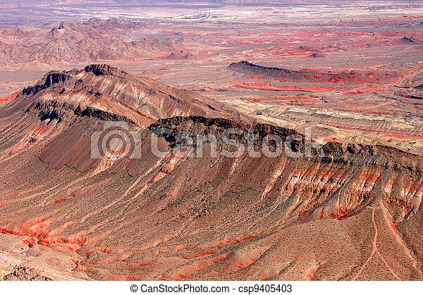 Rugged Landscape of Nevada Desert - csp9405403