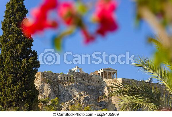 Acropolis at Athens, Greece - csp9405909