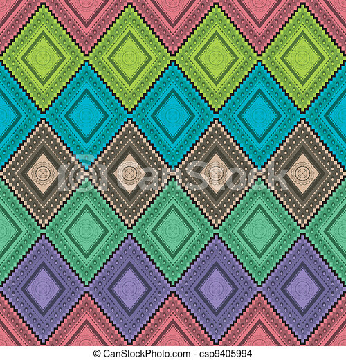 Pattern traditional wallpaper - csp9405994