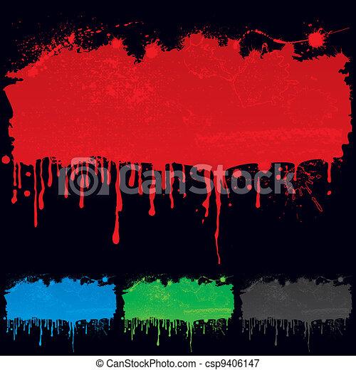 Vectors Illustration of Paint Dripping - Colors wet paint ...