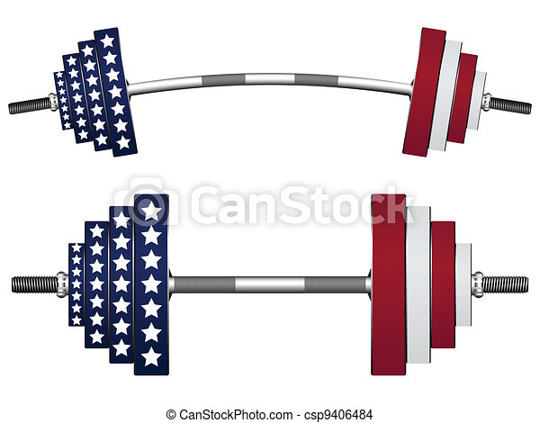 us flag weights - csp9406484