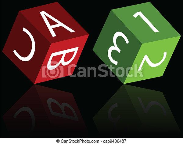 cubes reflected - csp9406487