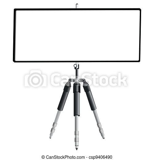 tripod and empty banner - csp9406490