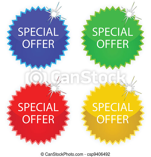 special offer tags - csp9406492