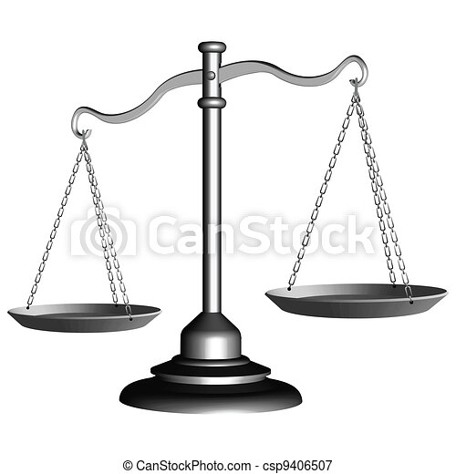 silver scale of justice - csp9406507