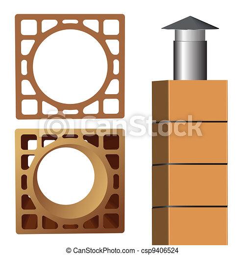chimney brick - csp9406524