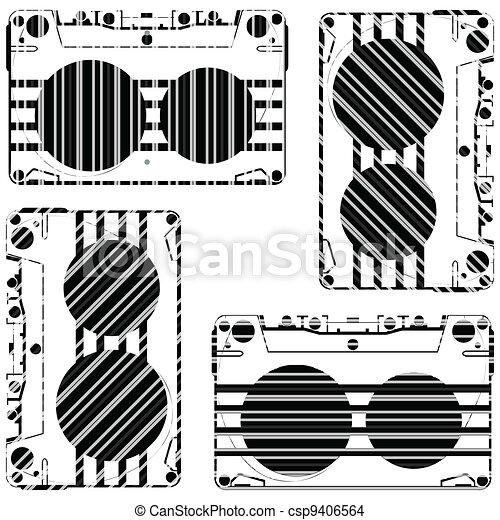 striped audio tapes - csp9406564