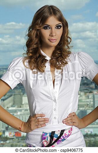 beautiful adult sensuality woman  - csp9406775