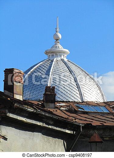 Bilder von architektur ansicht mit kuppel und blu architektur csp9408197 suchen sie - Architektur ansicht ...