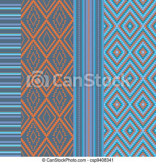 Various colored motifs - csp9408341