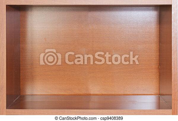 Empty bookshelf - csp9408389
