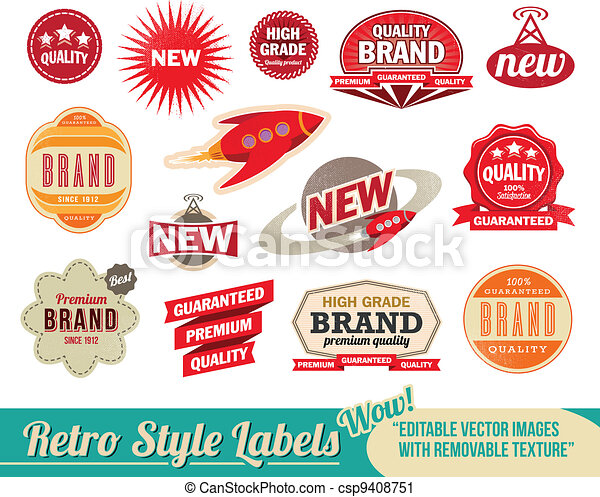 Vintage retro labels and tags - csp9408751