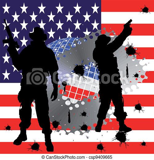 soldier silhouette - csp9409665