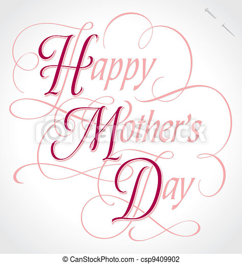 mothers day hand lettering (vector) - csp9409902