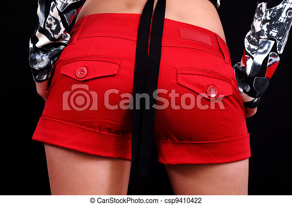 Red minishort ass - csp9410422